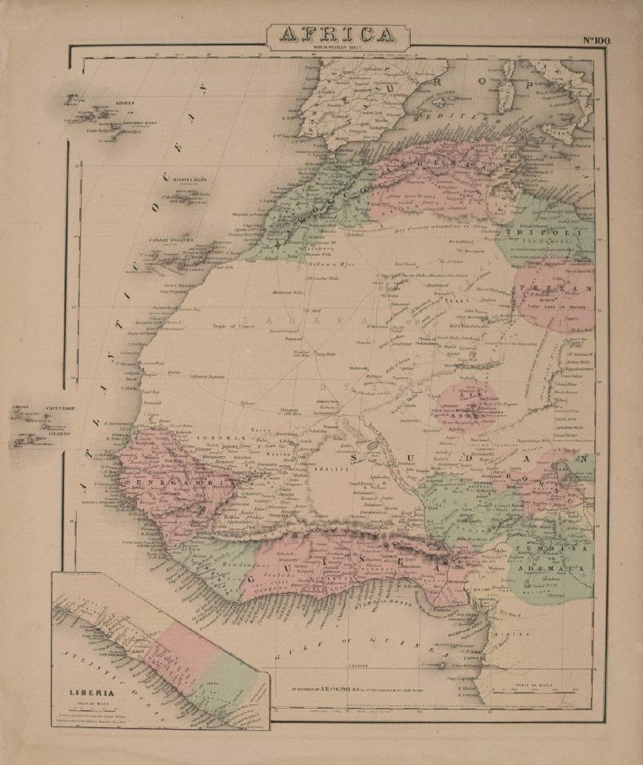 1855 Colton Map of Western Africa -- Africa North