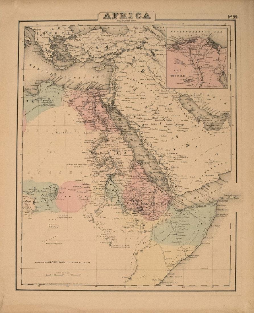 1855 Colton Map of Northeastern Africa -- Africa North