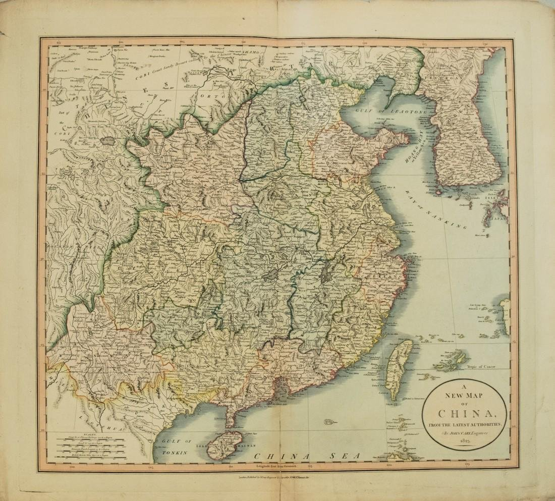 1825 Cary Map of China -- A New Map of China, From the