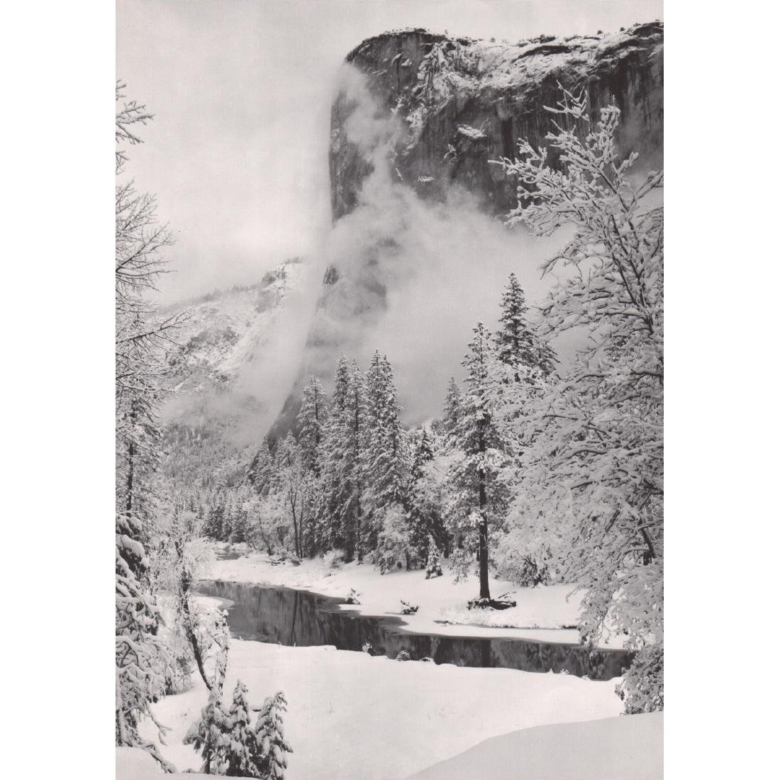 ANSEL ADAMS - El Capitan - Winter