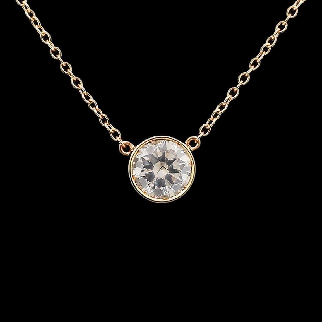 0.53ct Diamond 14KT Yellow Gold Pendant