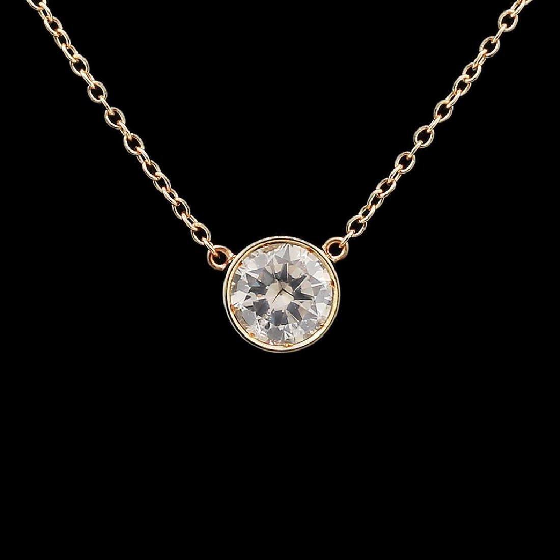 0.40ct Diamond 14KT Yellow Gold Pendant
