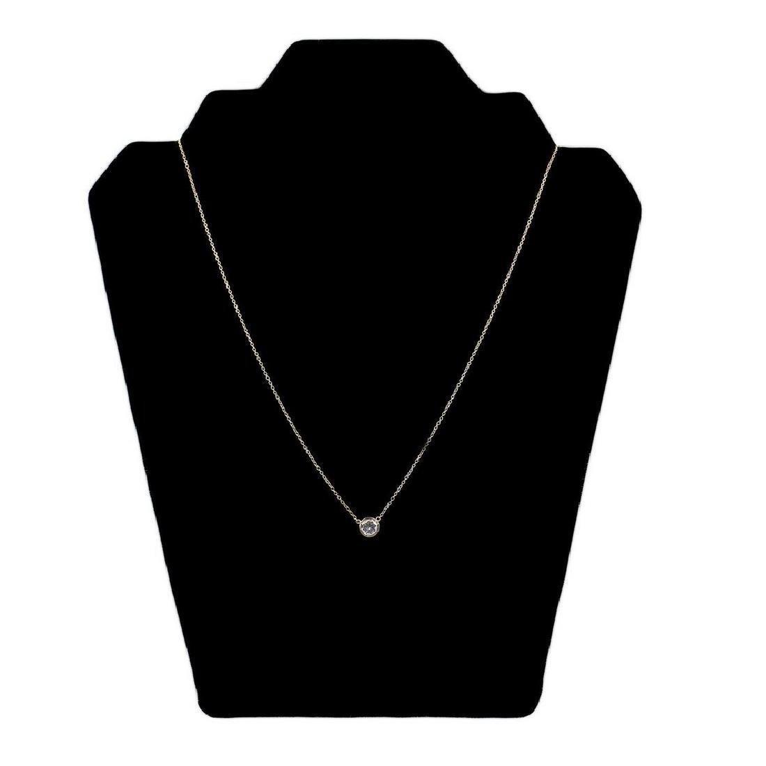 0.40ct Diamond 14KT Yellow Gold Pendant - 2
