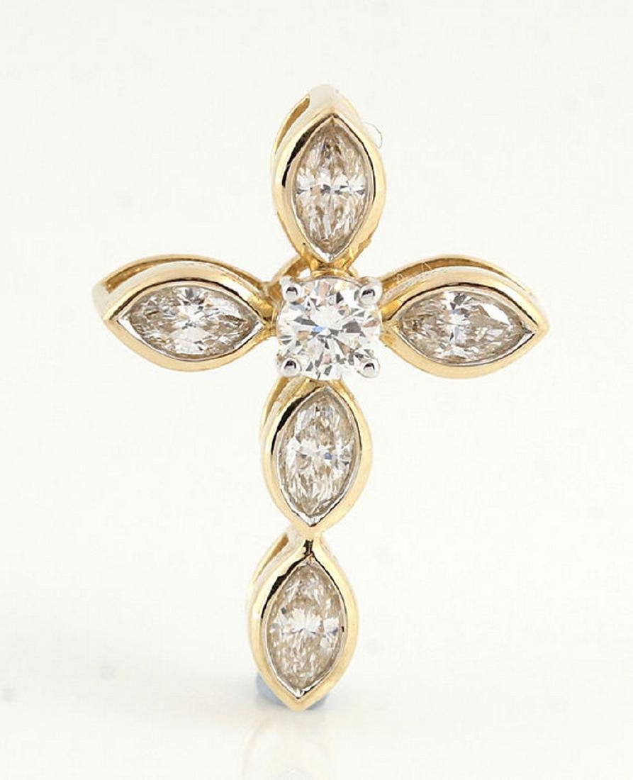 14kt yellow gold diamond pendant 0.45ct