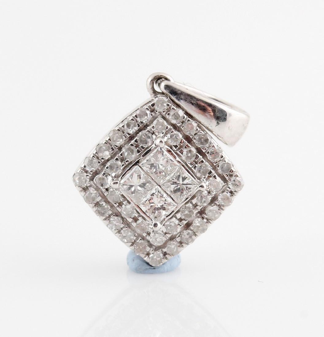 9kt diamond pendant total 0.34ct