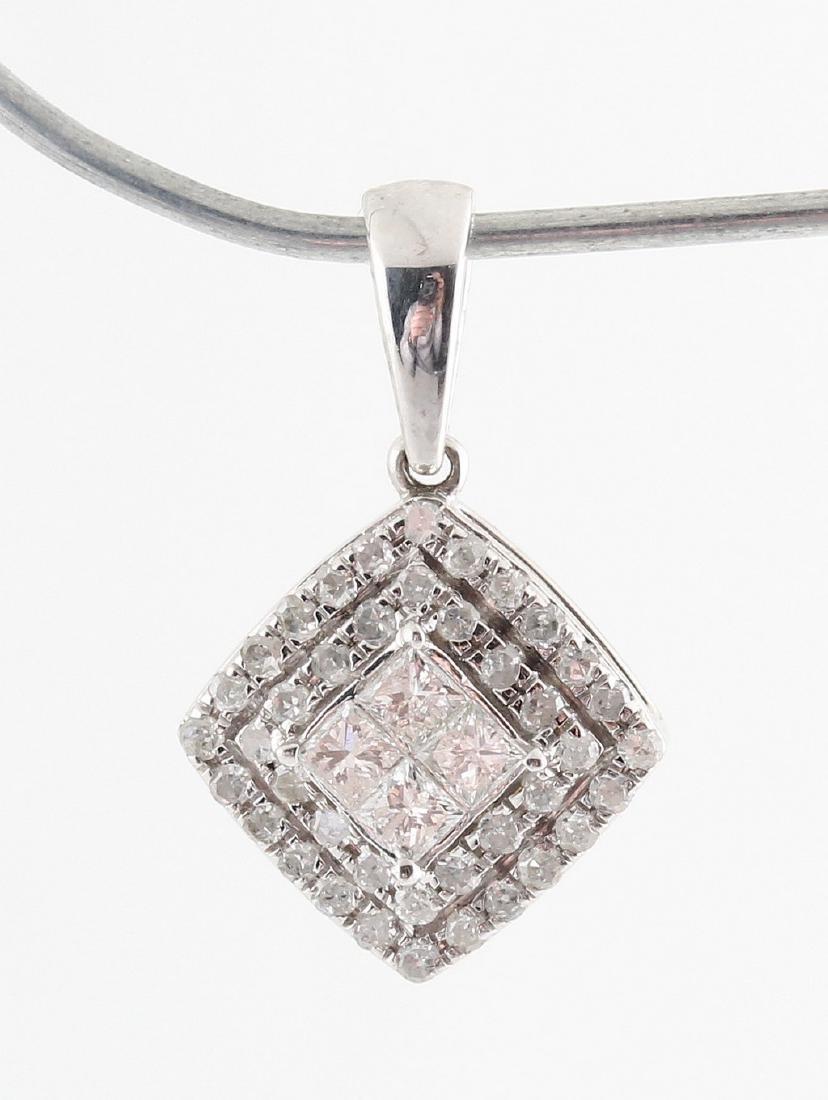 9kt diamond pendant total 0.34ct - 3