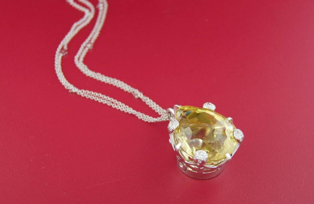 PASCUALE BRUNI Lemon Quartz Diamond White Gold PENDANT - 3