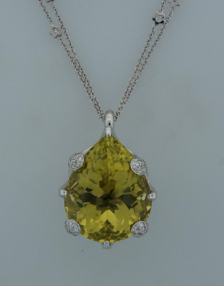 PASCUALE BRUNI Lemon Quartz Diamond White Gold PENDANT - 7