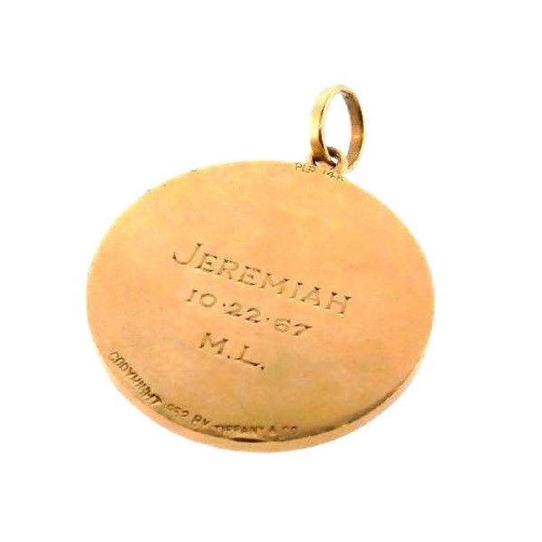 TIFFANY & CO. 14k Yellow Gold Libra Pendant Retro Circa - 3