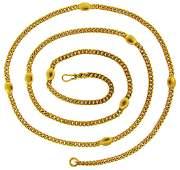 BULGARI Yellow Gold Chain NECKLACE Bvlgari 1970s