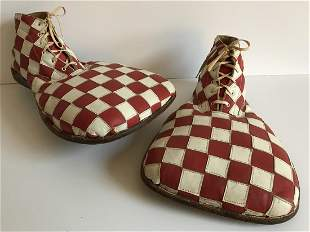 Red & White Circus Clown Shoes