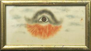 Folk Art Painting of All-Seeing Eye""