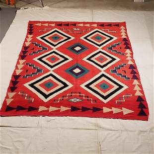 Large Navajo Germantown rug ca 1890's