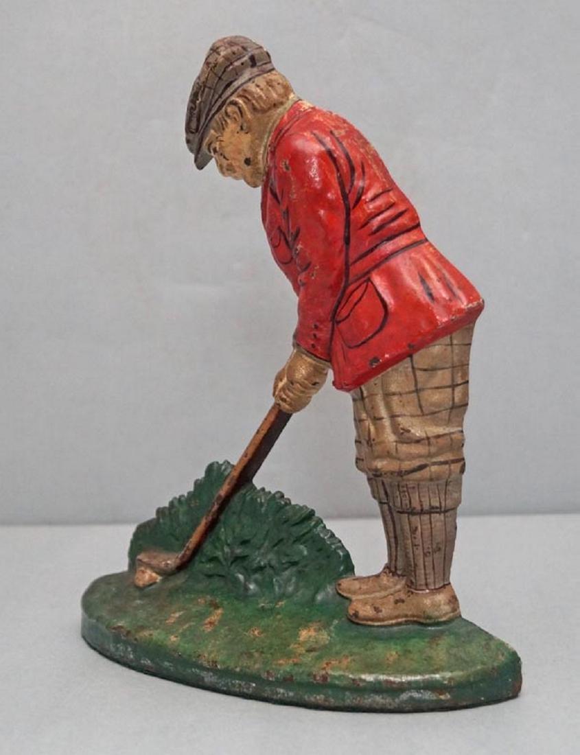 Putting Golfer Cast Iron Hubley Doorstop - 3