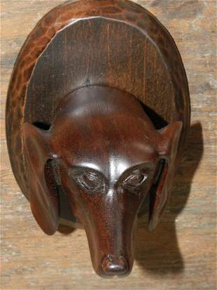 Dog Head Carving