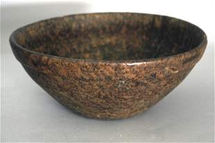 A finely turned late 18th century maple burl bowl with