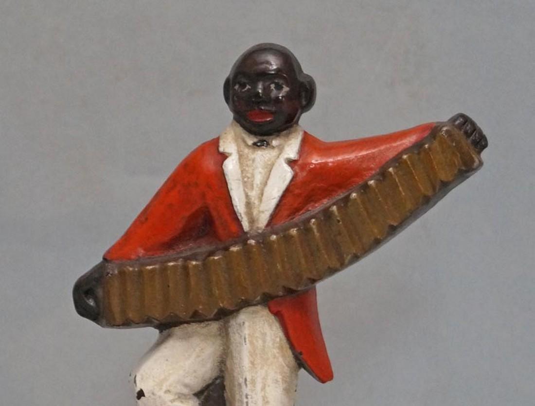 Black Musician, Accordion Player Cast Iron Doorstop - 2