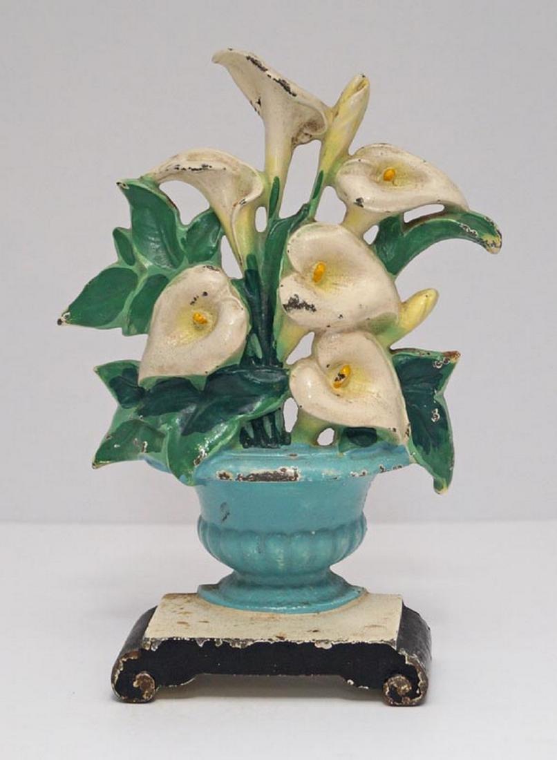 Calla Lilies Flower Cast Iron Hubley Doorstop