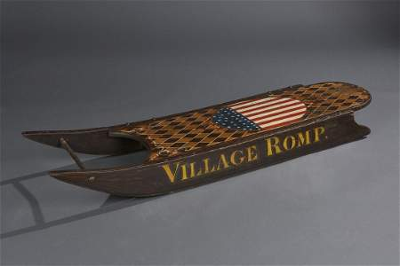 "Child's Sled, ""Village Romp"""