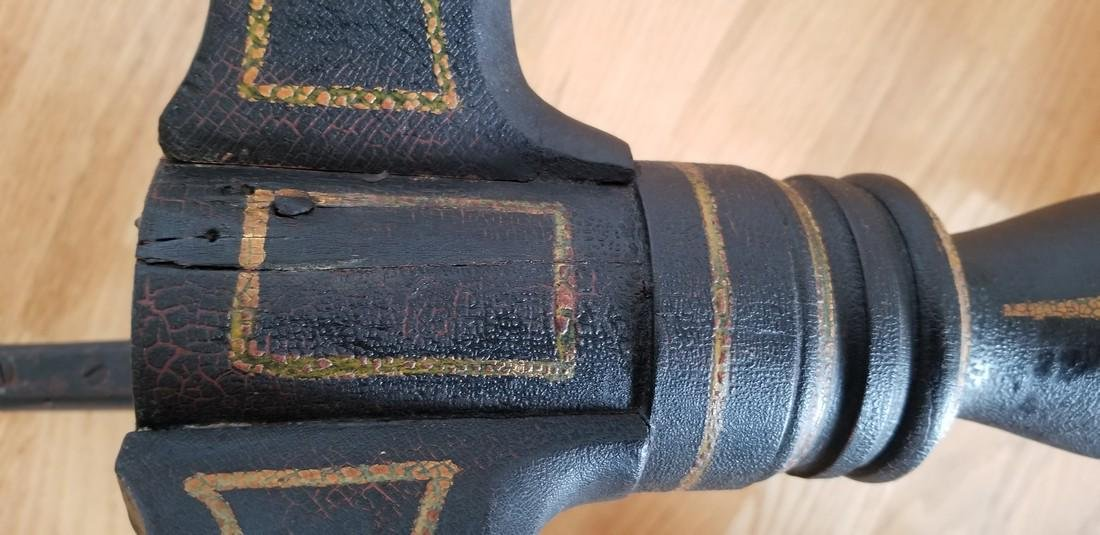 Rare Queen Anne Candlestand In Old Decoration - 5