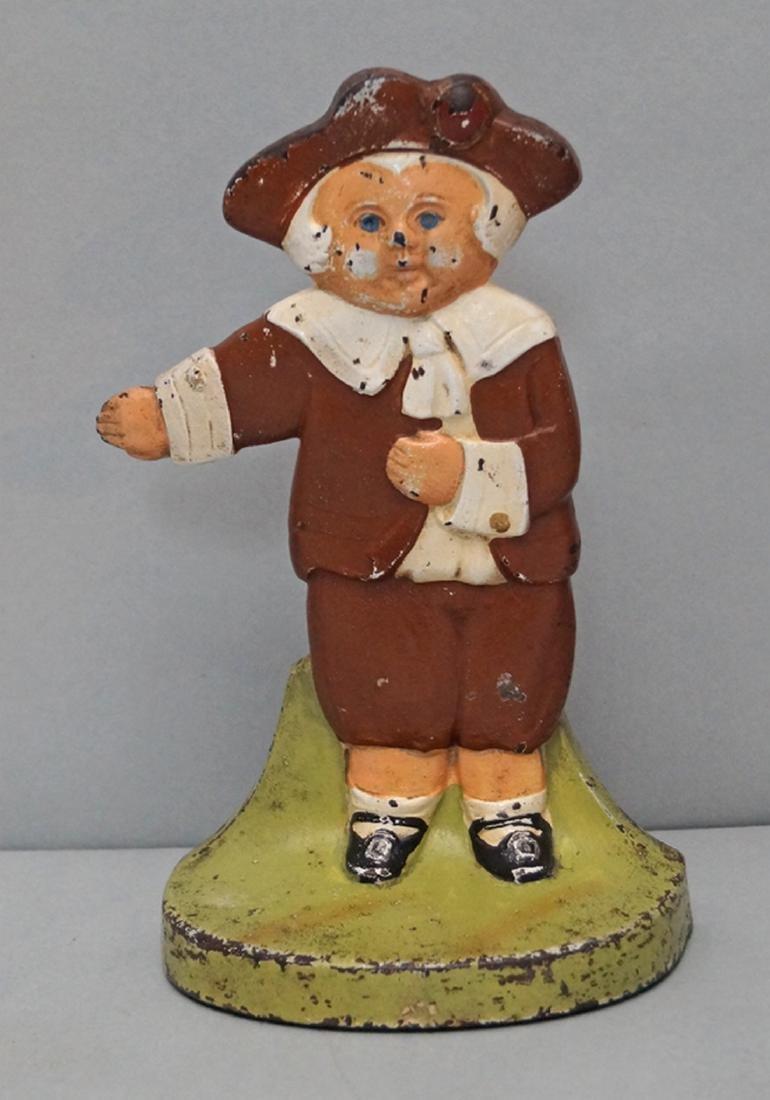 Pilgrim Boy Cast Iron Doorstop