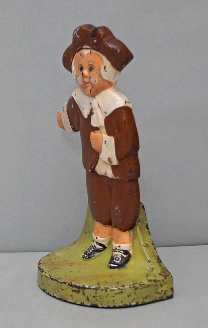 Pilgrim Boy Cast Iron Doorstop - 2