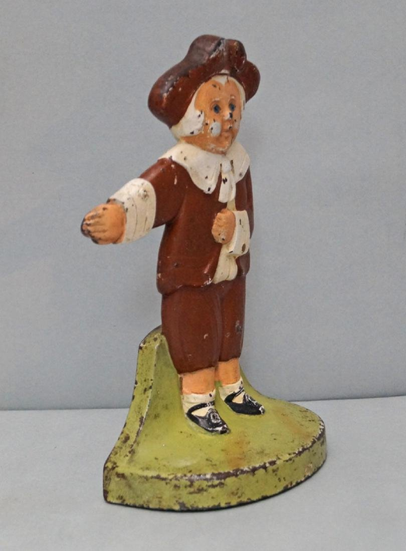 Pilgrim Boy Cast Iron Doorstop - 3