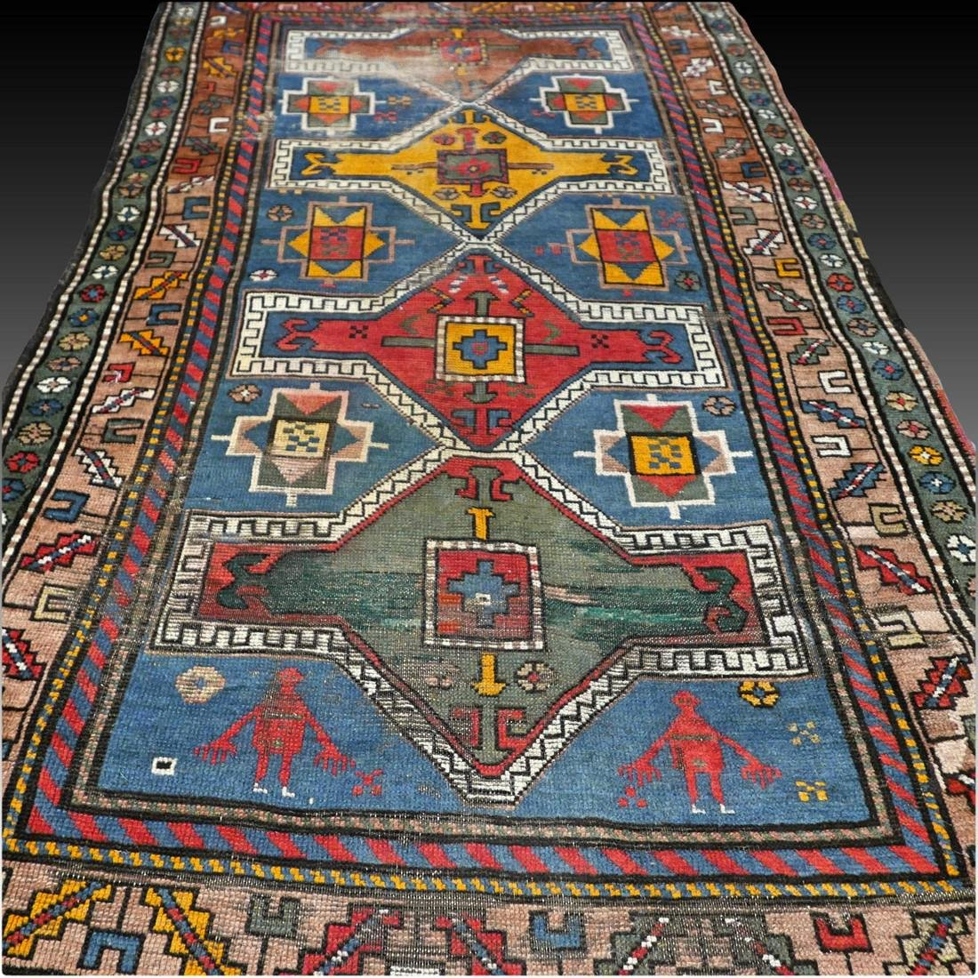 Antique Caucasian Kazak rug - 5.9 x 3.5 - collectors