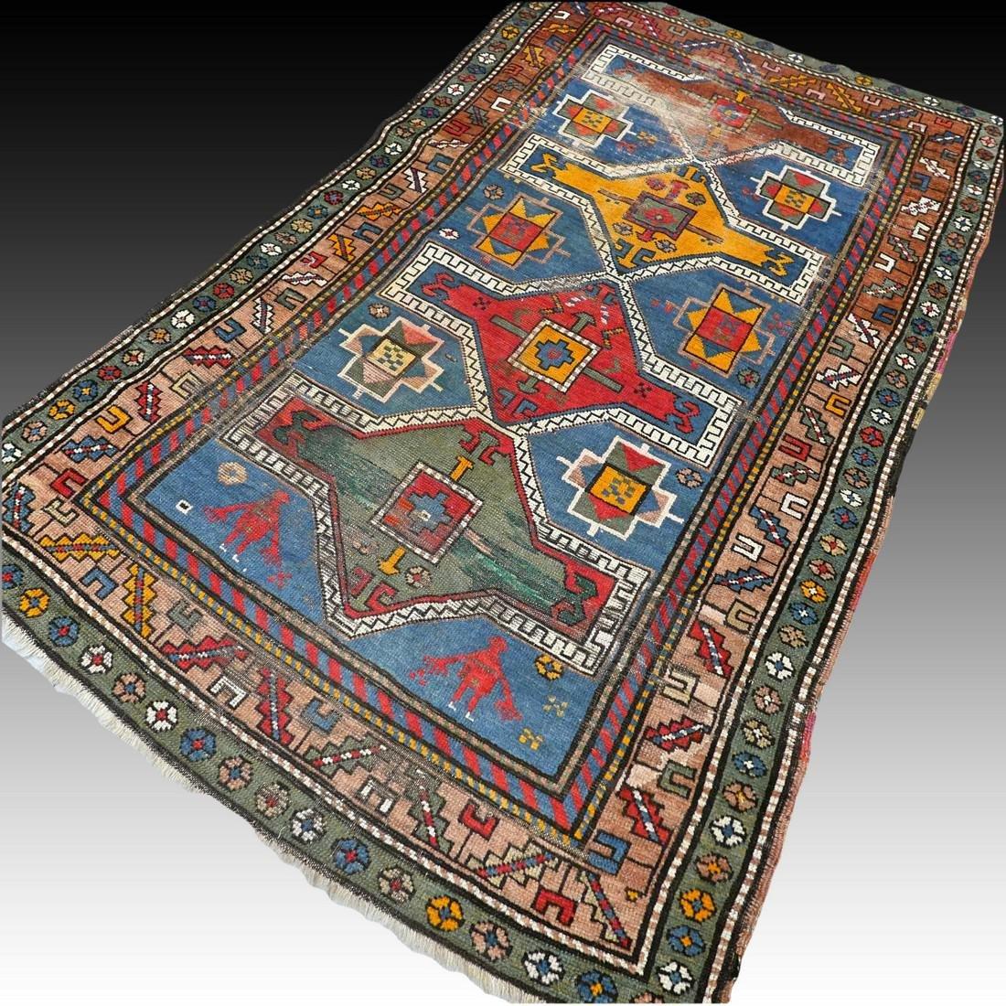 Antique Caucasian Kazak rug - 5.9 x 3.5 - collectors - 2