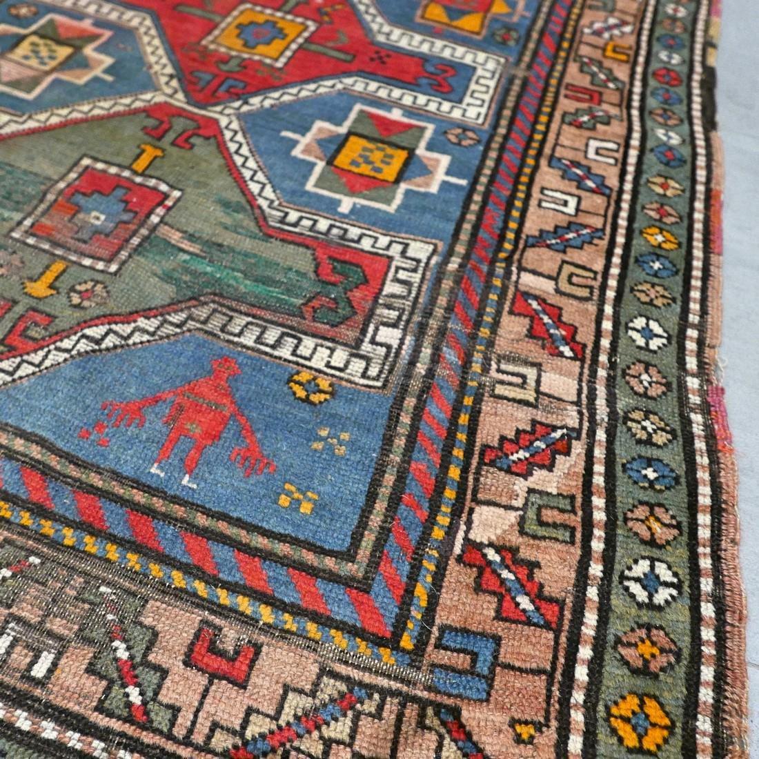 Antique Caucasian Kazak rug - 5.9 x 3.5 - collectors - 3