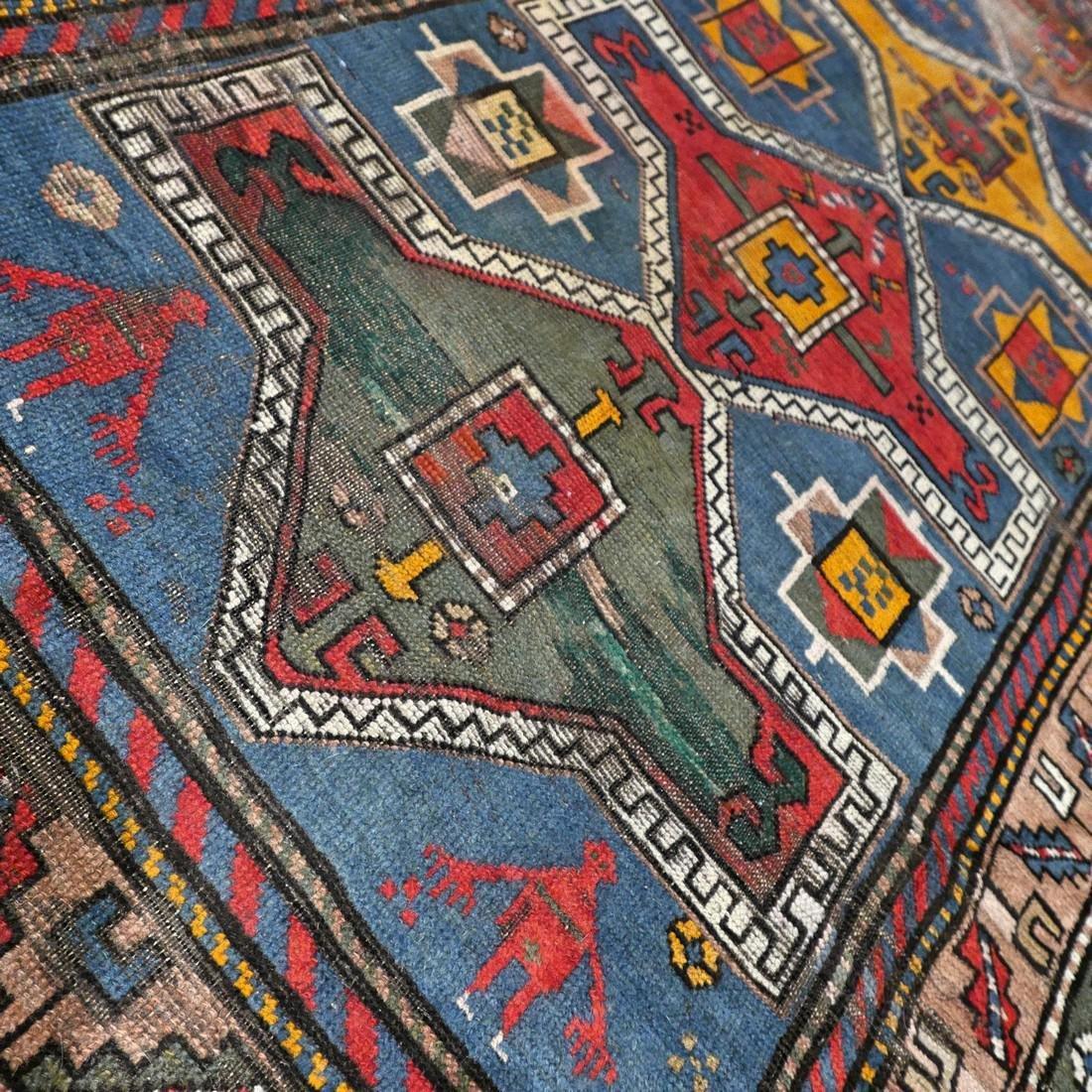 Antique Caucasian Kazak rug - 5.9 x 3.5 - collectors - 4