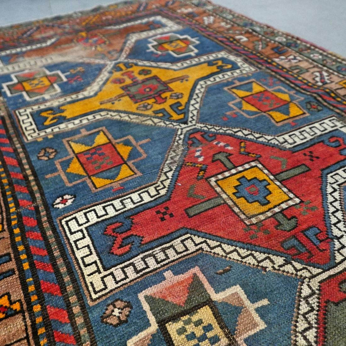 Antique Caucasian Kazak rug - 5.9 x 3.5 - collectors - 5