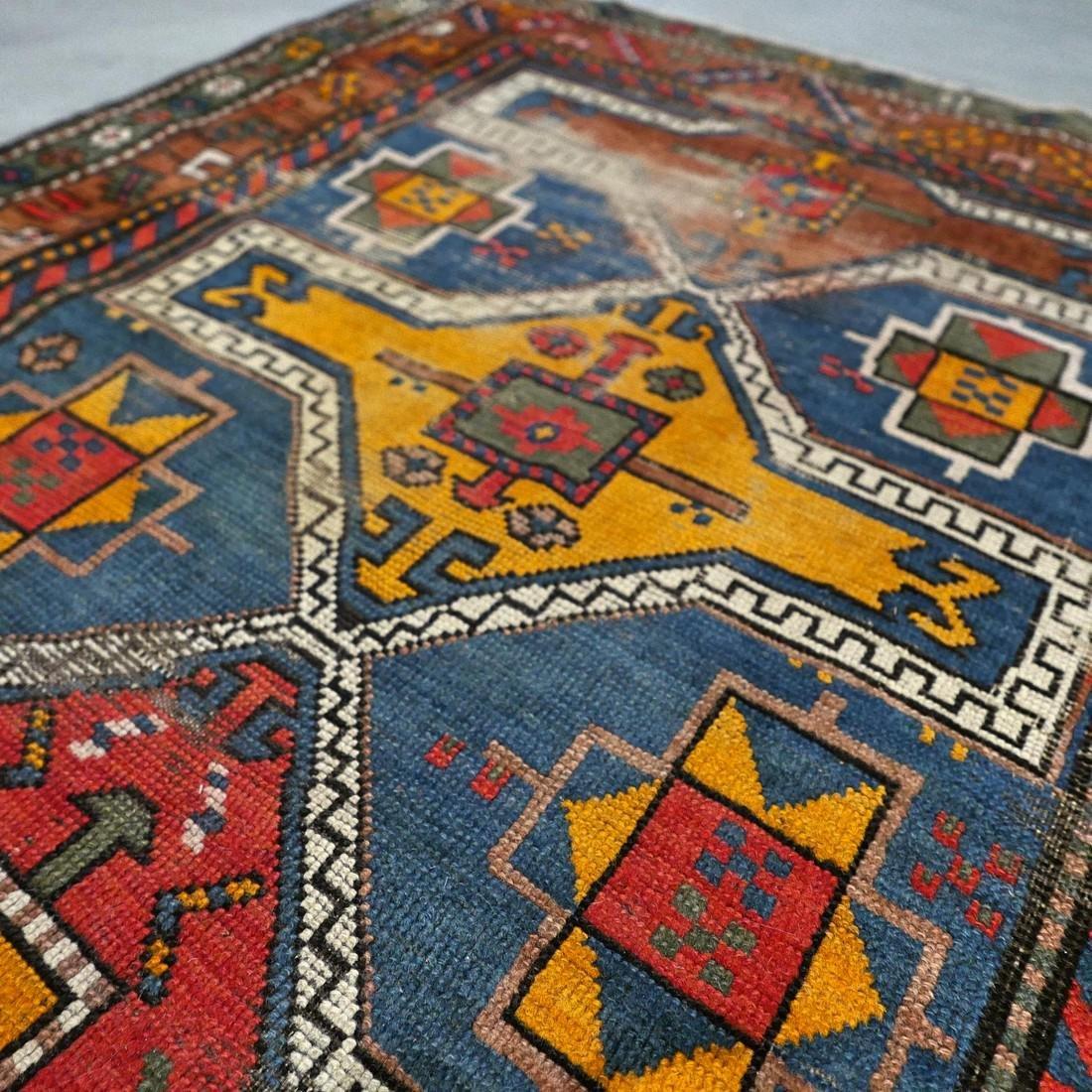 Antique Caucasian Kazak rug - 5.9 x 3.5 - collectors - 6