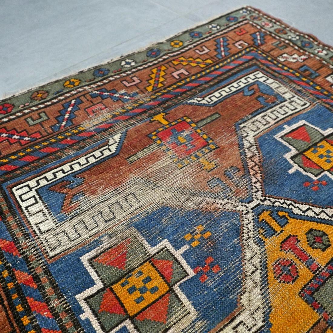 Antique Caucasian Kazak rug - 5.9 x 3.5 - collectors - 7