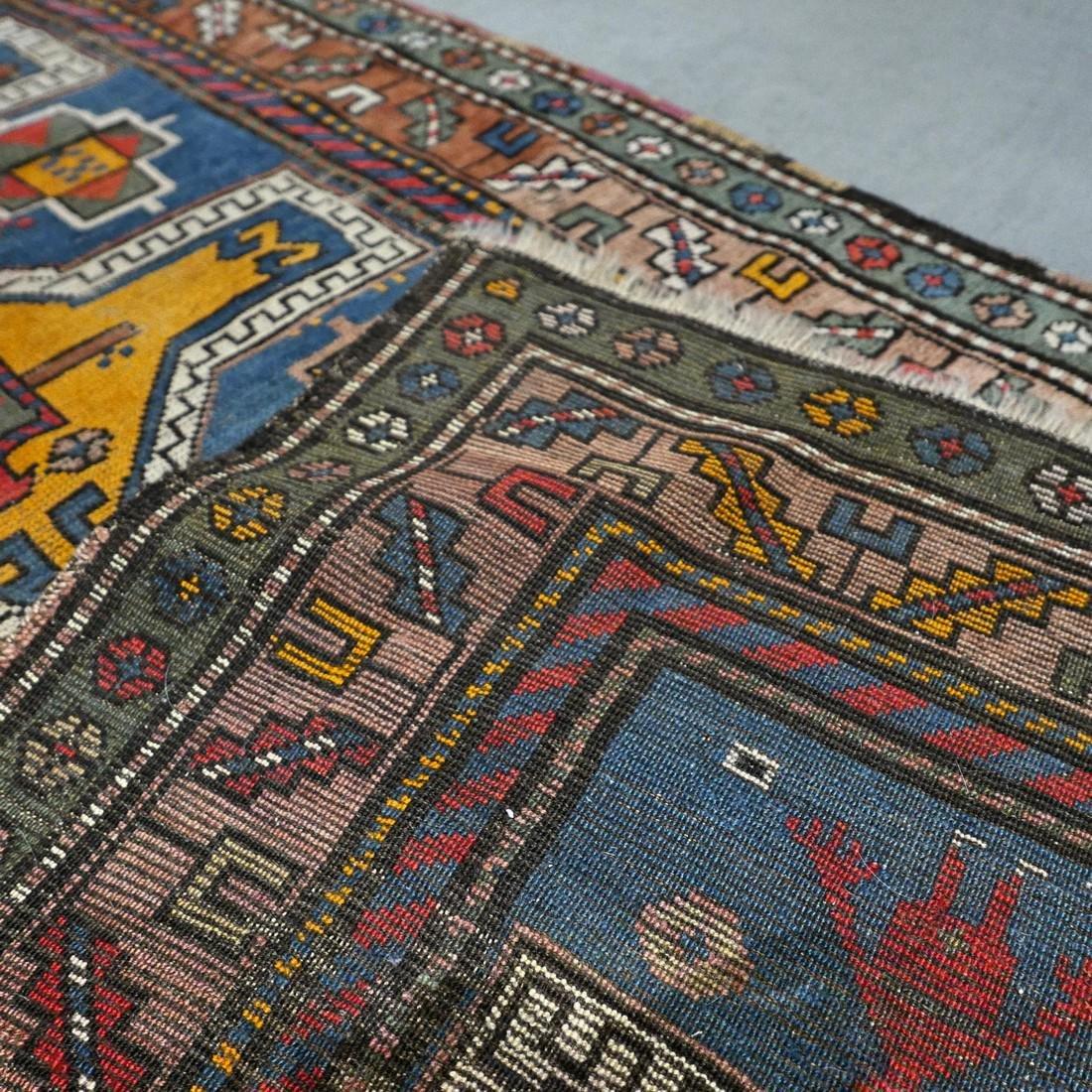 Antique Caucasian Kazak rug - 5.9 x 3.5 - collectors - 8