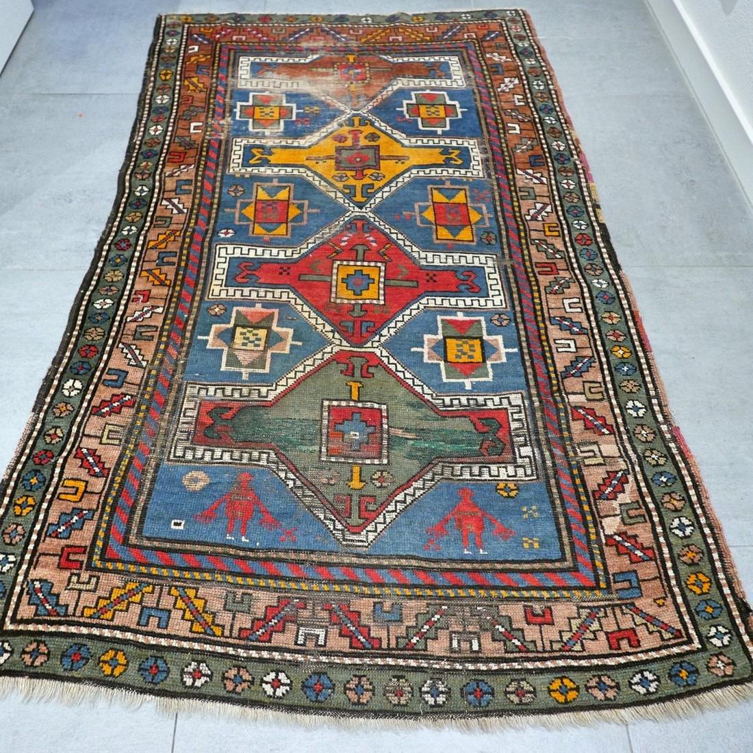 Antique Caucasian Kazak rug - 5.9 x 3.5 - collectors - 9