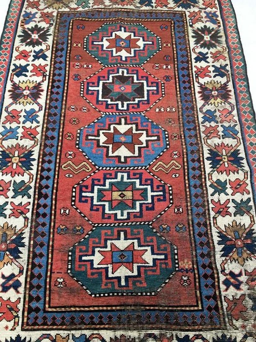 antique caucasian Ganjeh kazak - 6