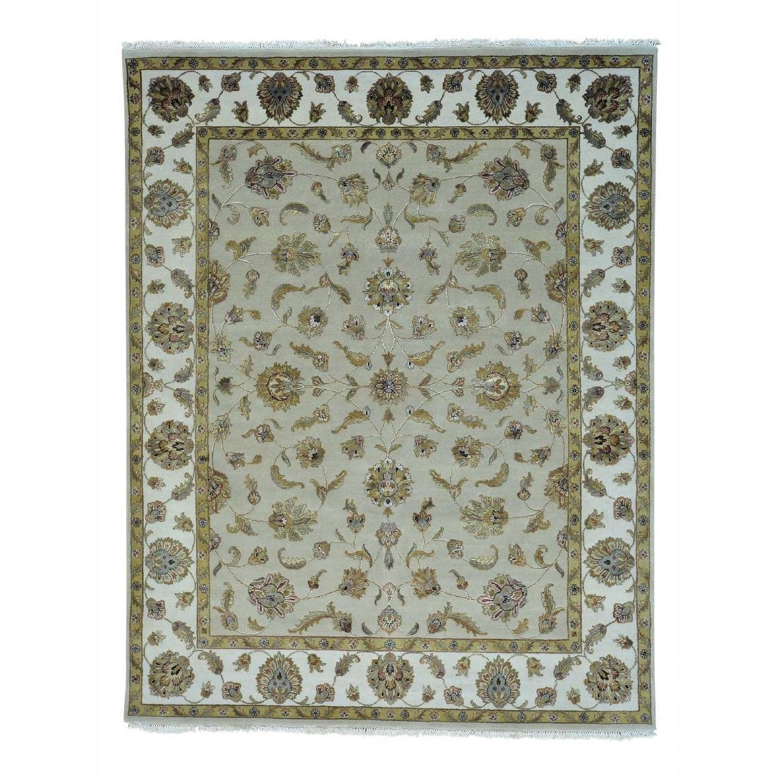 Rajasthan Wool and Silk Hand Knotted Oriental Rug