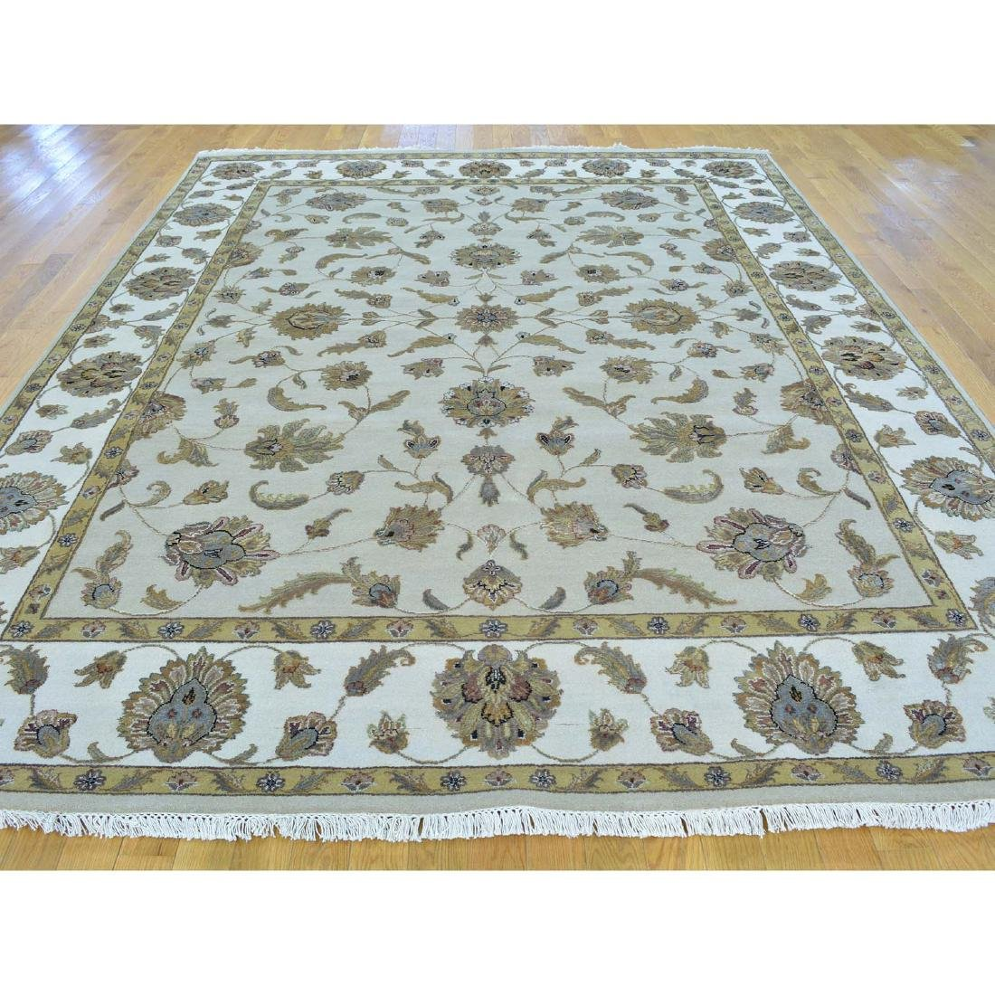Rajasthan Wool and Silk Hand Knotted Oriental Rug - 2