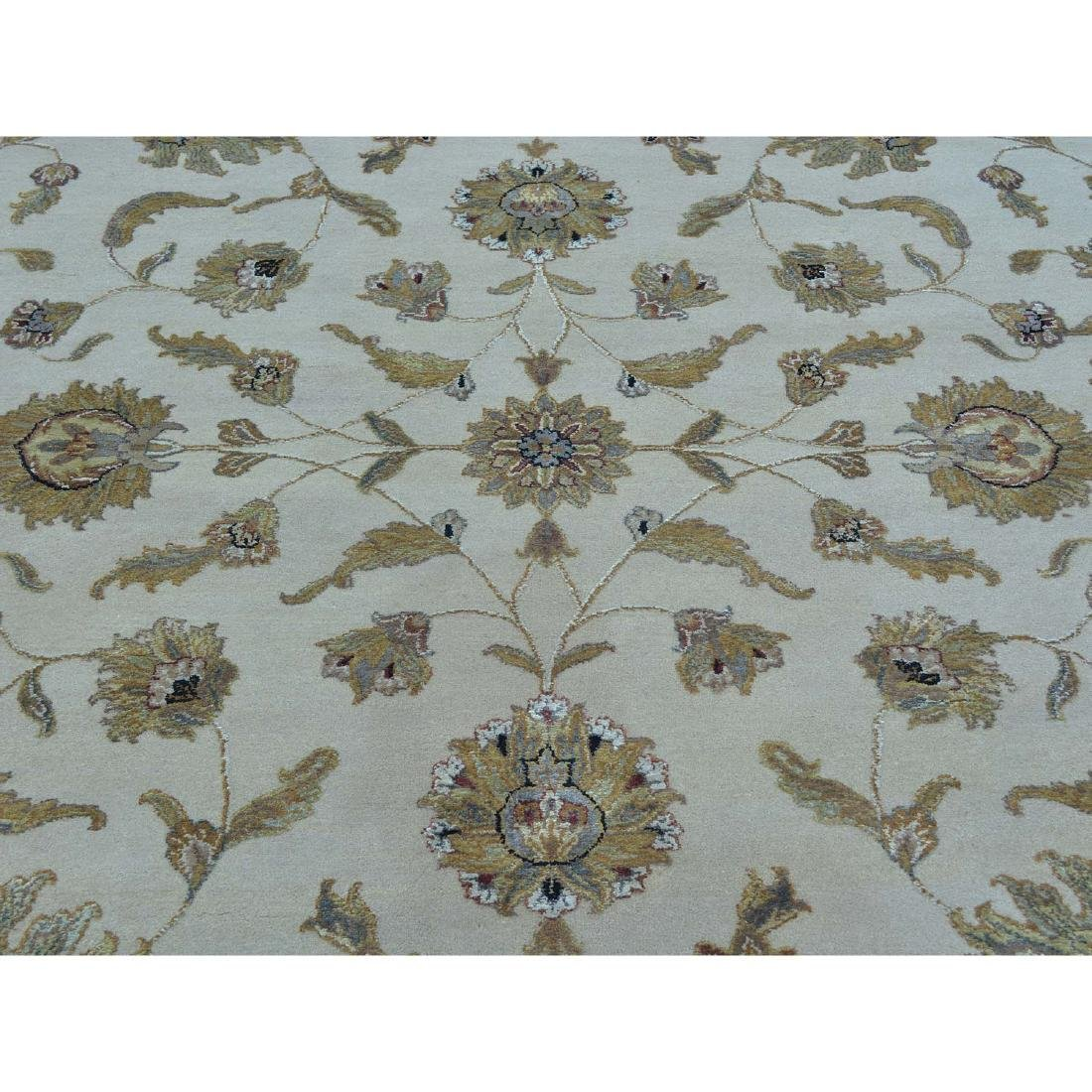 Rajasthan Wool and Silk Hand Knotted Oriental Rug - 4