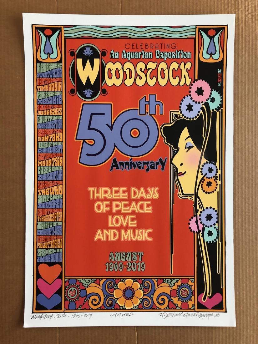 RARE WOODSTOCK 50TH - SIGNED ARTIST PROOF