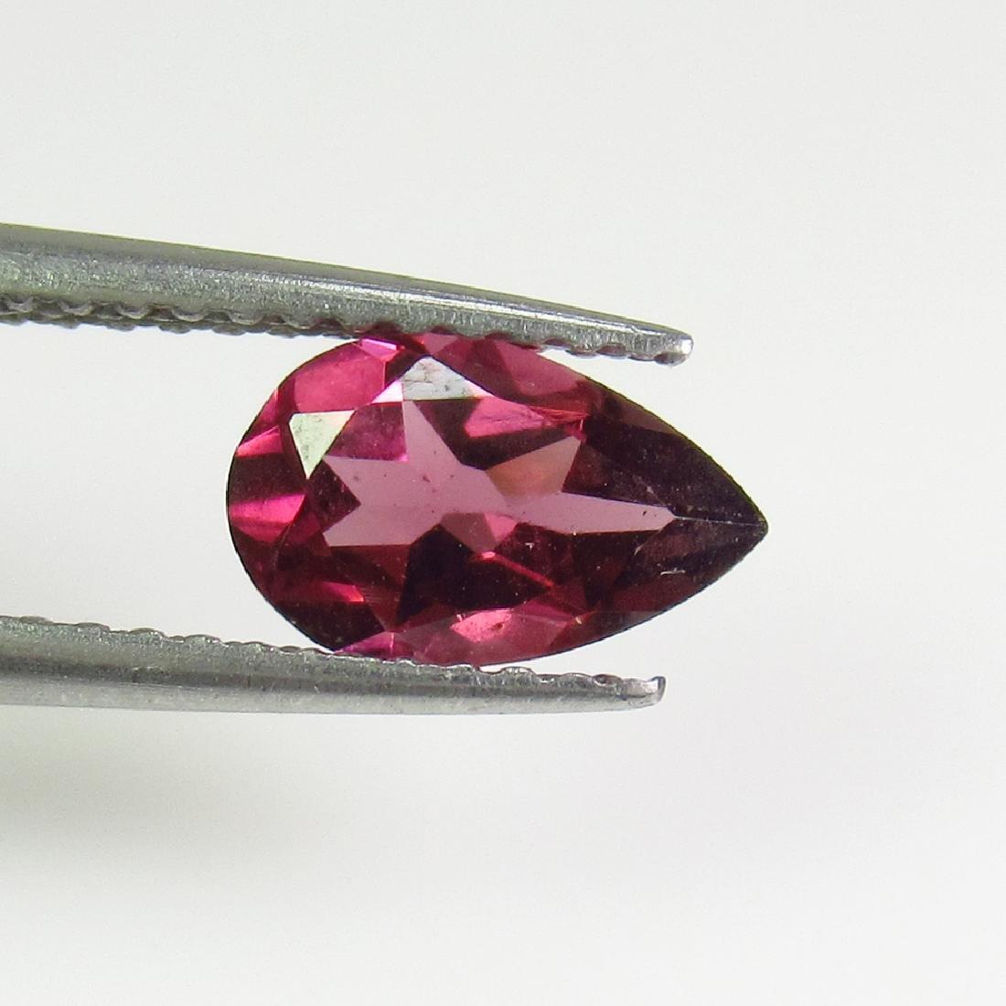 1.05 Ctw Natural Pink Rhodolite Garnet 8X5 mm Pear Cut