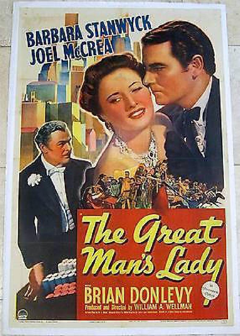 GREAT MAN'S LADY 1941 LB 1 SH POSTER ~ BARBARA STANWYCK