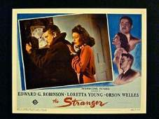 STRANGER '46 LC ~ ORSON WELLES ADJUSTS CLOCK WITH