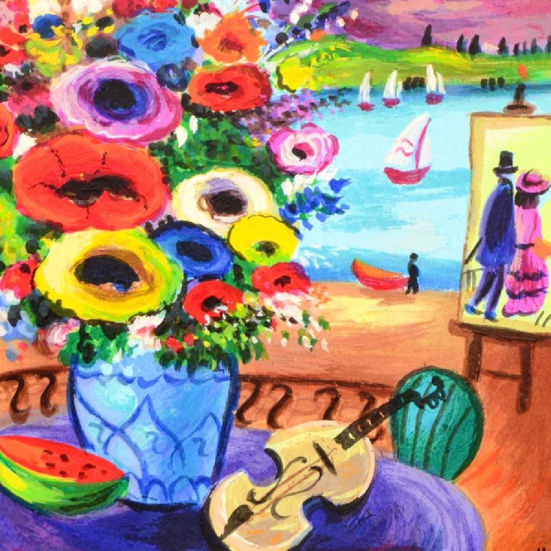 """Shlomo Alter original Serigraph /"""" Flowers/"""" II"""