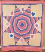 Vintage 30s Star of Bethlehem Antique Quilt