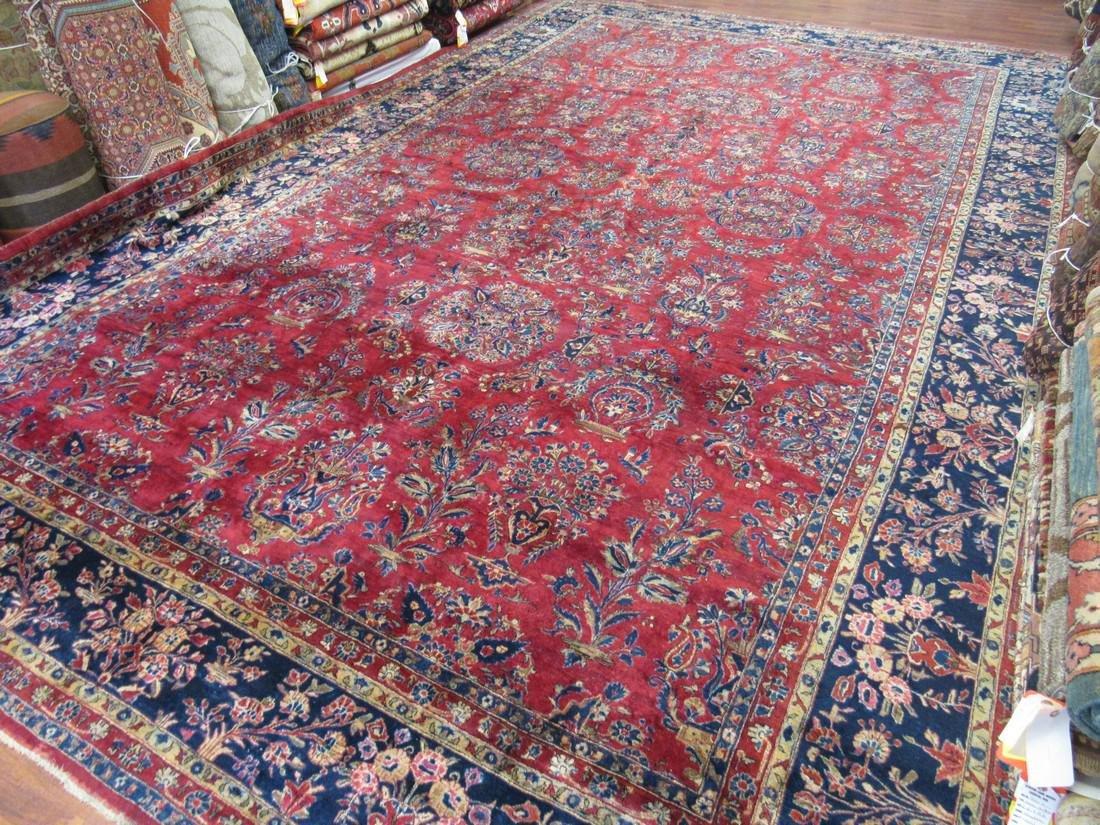 Antique Large size Persian Cork wool Kasahan Rug-3678