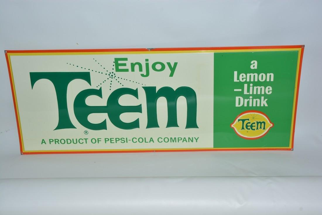 "Enjoy Teem ""a Lemon-Lime Drink"" painted sign"