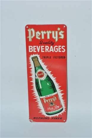"""Perry's Quality Beverages """"Pale Dry Ginger Ale"""" painted"""