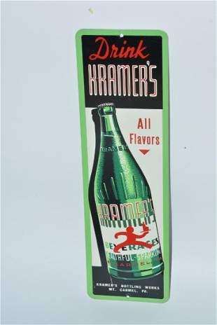 Drink Kramer's All Flavors Beverages painted sign